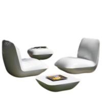 Bộ bàn ghế ngoài trời tích hợp giữ composite và nệm