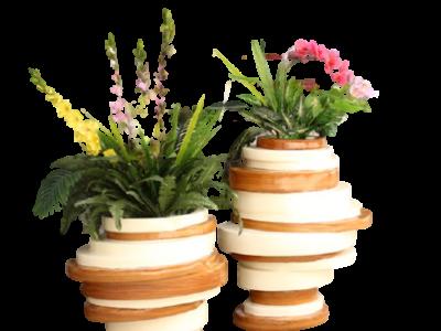 Chậu hoa composite  độc đáo - mới lạ