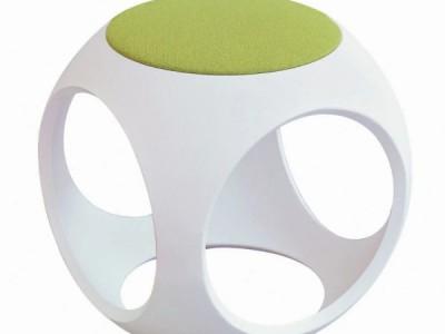 Ghế ngồi hình súc sắc [composite] có nệm
