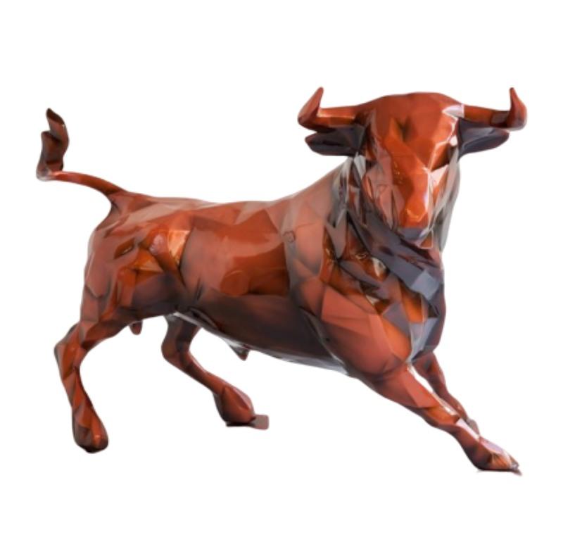 Tượng con bò húc【bằng composite frp】