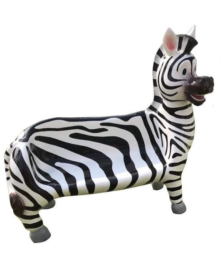 Ghế bò sữa và ngựa vằn đáng yêu bằng composite