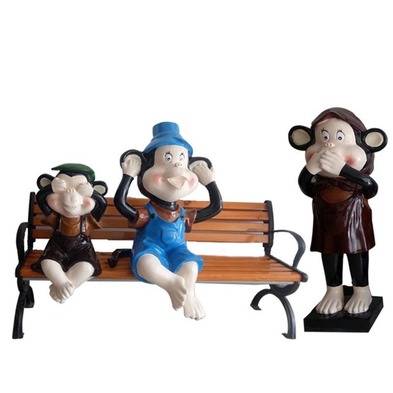 Mô hình composite cao cấp chú khỉ tinh nghịch